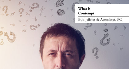 What is contempt?